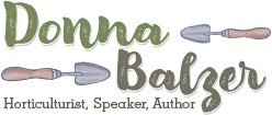 Donna Balzer, Horticulturist, Speaker, Author logo